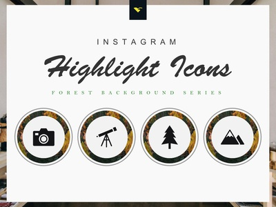 Instagram Highlight Cover Icons 190 Set Forest Series ux ui mobile minimal ios instagram story instagram stories icon highlight icon highlight cover graphic design flat etsy ecommerce cover icon cover highlight clean branding art android