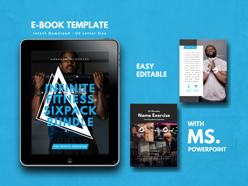 Fitness & GYM eBook Template Editable Using Microsoft PowerPoint ebook graphic design ecommerce android ios ux ui icon flat minimal gym logo gym flyer gym app fitness logo fitness app fitness club fitness center fitness etsy clean