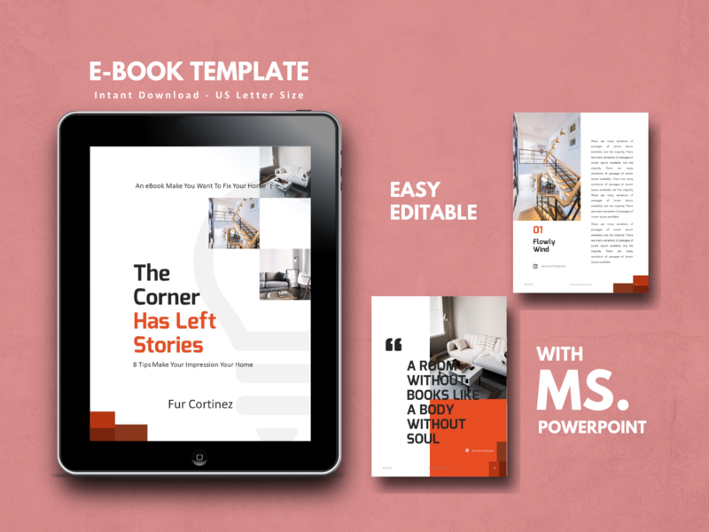 Interior eBook Design powerpoint ebook house home architecture interior art mobile etsy ux ui minimal icon flat clean