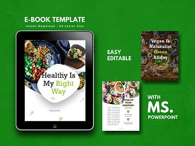 Vegan Theme Recipe eBook Design catalogue lookbook cookbook ebooks powerpoint vegetarian vegan ecommerce ebook logo art android ios icon minimal etsy ux ui flat clean