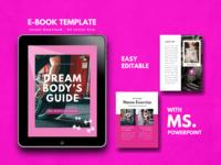 Fitness Girl eBook Design Template