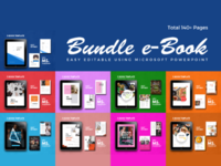 eBook Bundle Design PowerPoint Template
