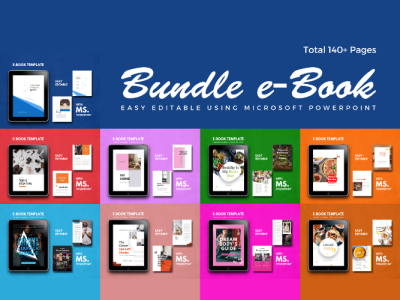 eBook Bundle Design PowerPoint Template lookbook icon architecture fitness girl presentation powerpoint ebook ecommerce art android ios etsy ux ui flat clean recipe interior tips fitness