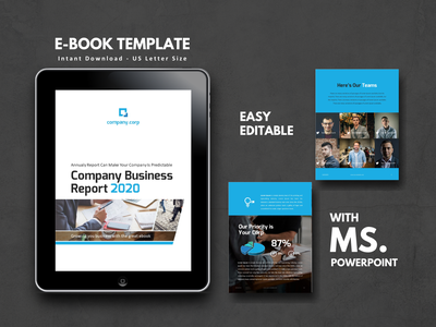 Business Report 2020 eBook powerpoint templates business management powerpoint presentation business report company report company profile proposal report annual report powerpoint ebook android ios art icon minimal etsy ux ui clean