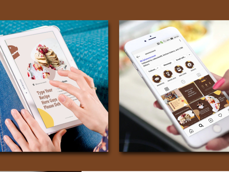Recipe eBook Creator with instagram and youtube branding kit ios ecommerce flat ux ui icon etsy clean youtube banner instagram stories instagram post powerpoint templates recipe book
