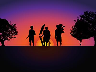 Eclipse Nerfing YouTube Banner youtube youtube banner illustrator illustration vector graphic design design