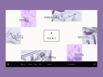 Beauty salon — concept impressive exclusive expensive interface elegant minimalistic desktop digital nyc grid stylishly modern ux ui salon purple flat web beauty interactive