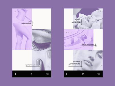 Beauty salon — concept mobile fantastic amazing premium elegant beauty salon inspiration black digital uk russia modern ui salon mobile beauty web concept flat dark purple
