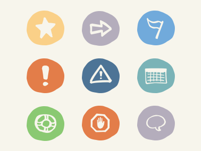 Trueaccord Email Icons icons drawn email blue red teal yellow