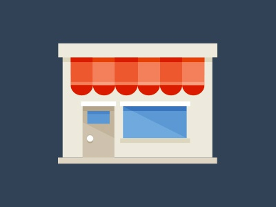 Store illustration business store