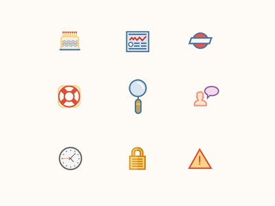 January Icons icons illustrations graphics vector