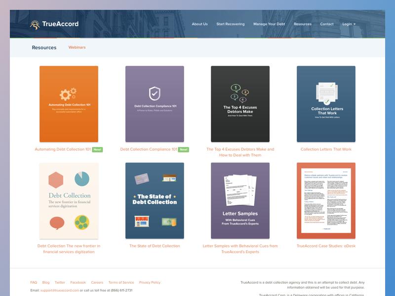 TrueAccord Resources trueaccord resources website blue