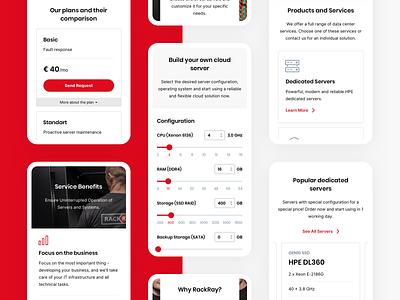RackRay | Mobile product design ui  ux ux  ui modern design minimal clean design dedicated server responsive design responsive user experience design user experience user interface mobile experience mobile
