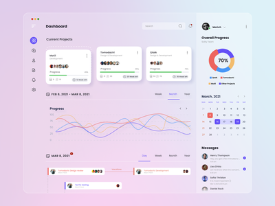 Task Management Web App Dashboard Light Mode task management task light mode light dashboard ui dashboard design dashboard dark ux ui minimal design