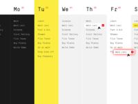 Our Week — App Design