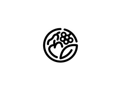 Unused Logo Proposal for Fruit Company circle shapes illustration line mark logo minimal simple white black monogram fruit