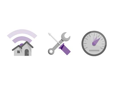 TELUS Wi-Fi Plus Illustrations design material tool house speed simple wifi white grey purple minimal illustration