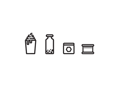 Icons for Ice Cream Shop