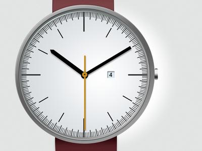 Watch clean watch ui subtle hours uniform wares