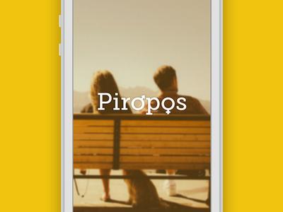 Piropos splash screen couple flirt mobile logo iphone