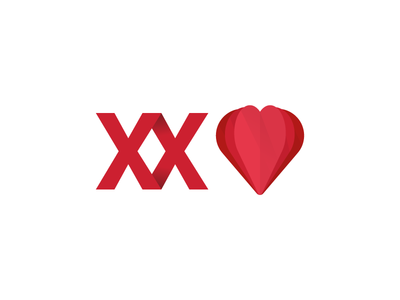 Jornadas de Cardiologia heart folded logo shadow identity