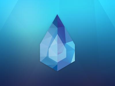 Sapphire identity logo saphire gradient polygons