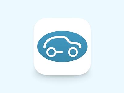Oval Cars icon ios mobile car cab taxi iphone oval