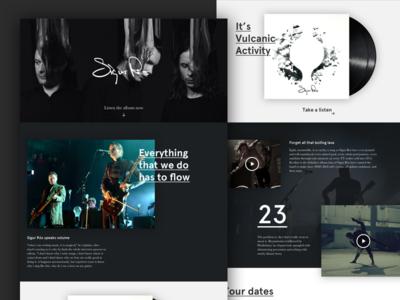 Sigur Rós ui web clean minimal typography album artists music product website site