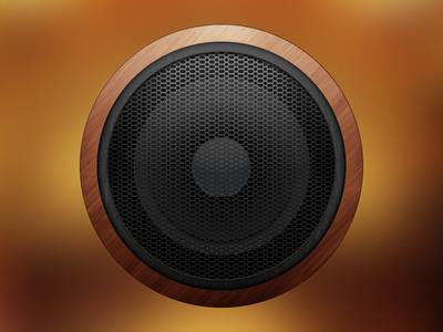 Speaker  speaker wood net sound