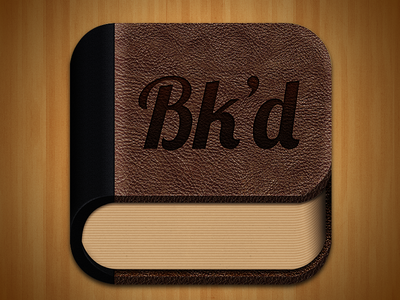 Bk'd Icon book icon iphone