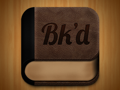 Bk'd Icon Rebound book icon iphone brown leather