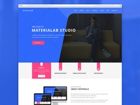 MateriaLab - Material Design Agency PSD Template