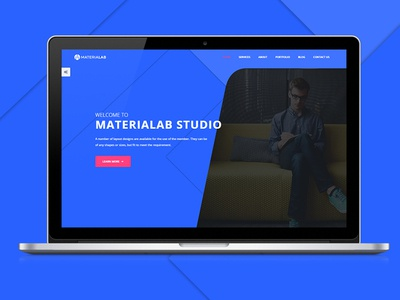 MateriaLab - Material Design HTML Template material google material themeforest psd clean modern agency creative portfolio material template material design