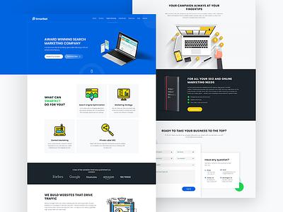 Smartket - Digital Marketing & Seo Website marketing seo minimal social media landing page product design ui ux