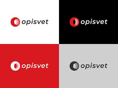 Opisvet logo - Sale of lighting equipment opisvet graphic design design logos logo design logodesign identity branding sneptube shop light logotype logo