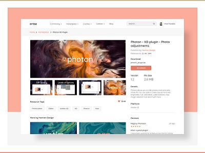 Product Detail Page website ux pastel web uiux webdesign ui marketplace design