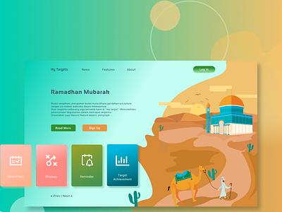 My Targets - landing page design figma illustration homepage web design landing page