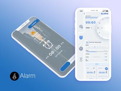 ALARM clock neomorphism iphone mobile alarm ui