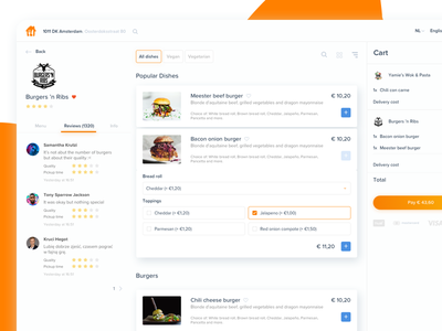 🍴 Takeaway.com Redesign Desktop menu cart eat thuisbezorgd pyszne 7ninjas order food takeaway restaurant interface