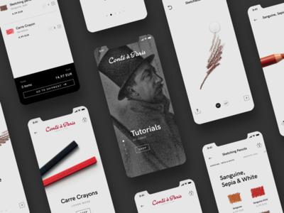 Conté à Paris Store Concept ✏️ paris 7ninjas conte crayon pencil cart basket store shop e-commerce
