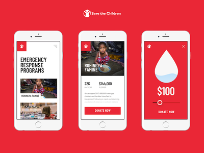 Save The Children Fundraising App fund help app fundraising children 7ninjas donation donate slider charity