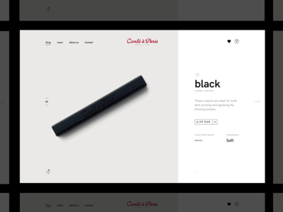 Conté à Paris Concept Store ✏️ 7ninjas conte pencil store shop e-commerce ecommerce sketch animation