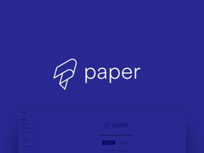 React Native Paper Logo cross-platform callstack github linear fold logo monogram paper native react