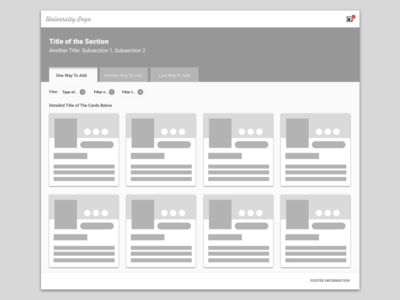 Add Materials Wireframe filters tabs card design ui design interface design layoutdesign wireframes wireframe ux research ux design ux