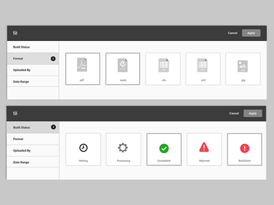Wireframes for Filtering System web productdesign product multiselect dropdown ui uxui filter ui user experience ux wireframes filtering system filters