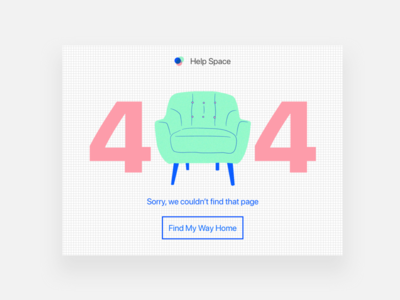 Daily UI Challenge #8 404 Page