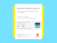 Daily UI Challenge #17  Email Receipt