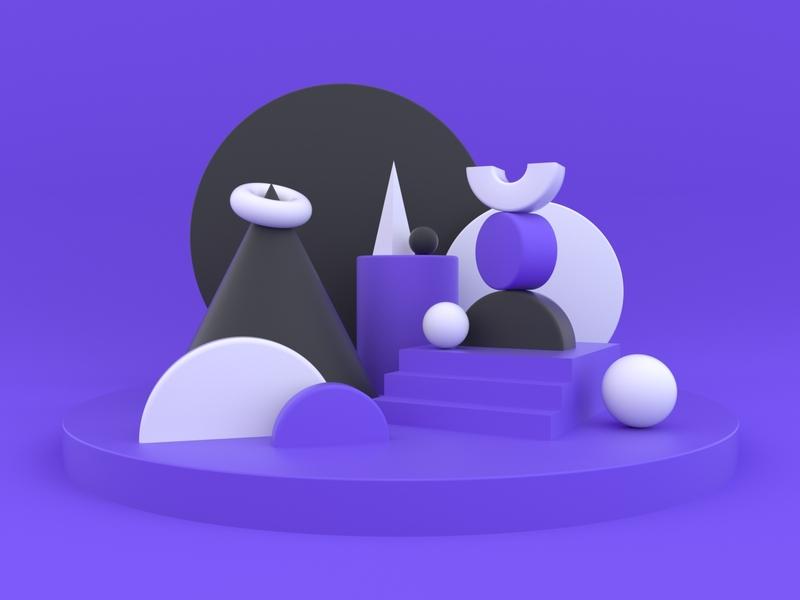 Shapes 3d art 3d primitives cinema4d render octane shapes