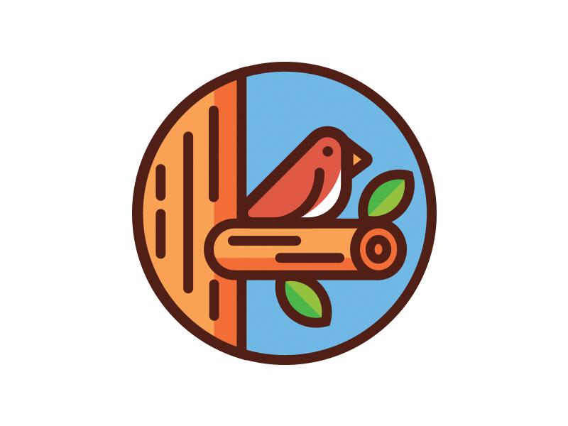 Gold Park pt. 2 trademark mark animal park robin bird branding tree logo design logo