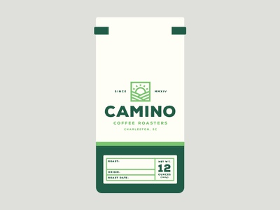 Camino Coffee Bag green fairtrade organic collateral label packaging brand coffee